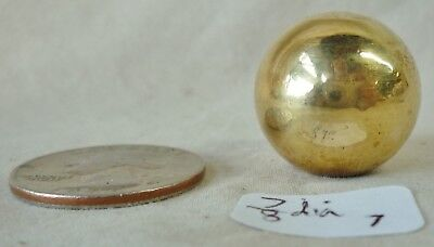 """Lamp Finial Polished Solid Brass  Ball  7/8"""" dia"""