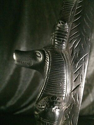 ANCIENT EGYPT EGYPTIAN Rare ANTIQUE Sobek GODDESS STATUE Carved STONE BC
