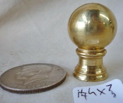 "Lamp Finial Solid Brass Elevated Ball Old Patina 1 1/2""h x 1"" d (per ea)"