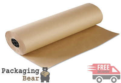 1 x ROLL 750mm x 10M STRONG BROWN KRAFT WRAPPING PACKAGING POSTAL PAPER 88gsm