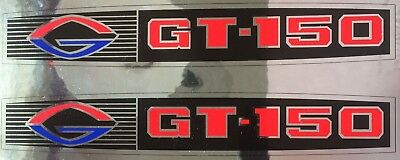 TWO Exact Reproduced Glastron GT 150 Decals