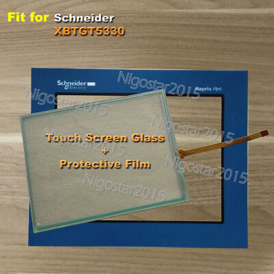 for Schneider XBTGT5330 Touch Screen Glass + Protective Film 1-Year Warranty