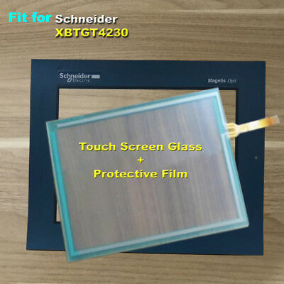 for Schneider XBTGT4230 Touch Screen Glass with Protective Film 1 Year Warranty