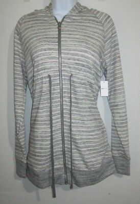 Gap Maternity Womens Size Small Essential Zip Up Hoodie Heathered Gray Nwt New