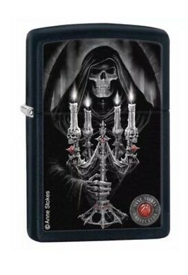 Zippo Windproof Black Matte Anne Stokes Candelabra Lighter, 28857, New In Box