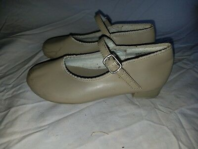 Revolution Dancewear Size 1 AD Tan Used Mary Jane Tap Dance Shoes