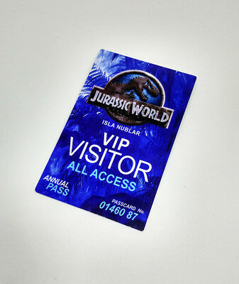 Jurassic Park Visitor Pass Novelty ID Badge Prop Costume Cheapyardsigns Christmas Ornament