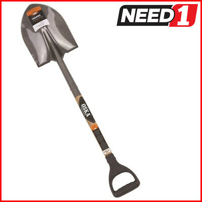OSKA Round Nose Shovel, Ash Wooden Handle with Ergo Grip.Available in MultiPacks