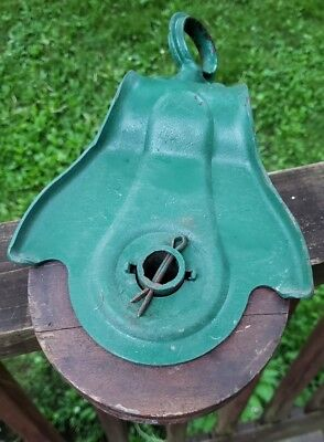 Antique Primitive Old Wooden Barn Hay Pulley Tool