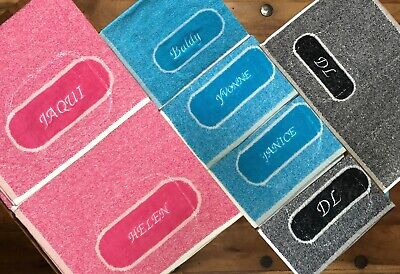Personalised box space / Sports Gym Fitness Yoga Towel / 100%Cotton / Bi-Color