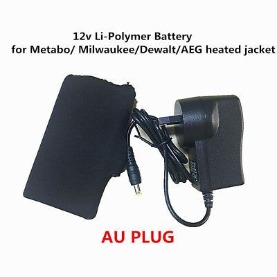 12v Li-Polymer Battery pack fit for Metabo/ Milwaukee/Dewalt/AEG heated jacket