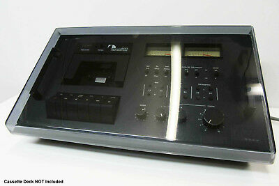 Nakamichi 600 - Genuine Smoked Plastic Dust Cover Lid - Cassette Deck Part