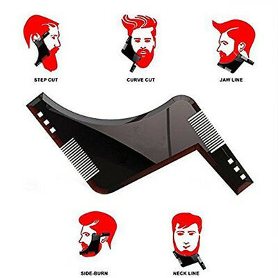 Beard Styling Shaping Shaving tool Template & Trimming Comb to Lines & Symmetry