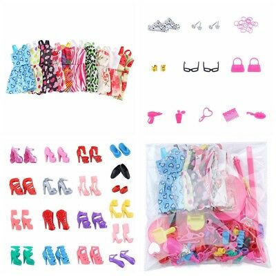 Lot Cheap Doll Dress Up Clothes Accessories Handmade Clothing 83PC/Set