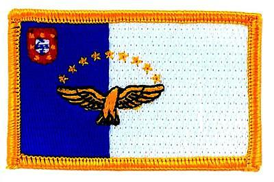 Patch Embroidered Flag Acores Azores Portugal Badge Thermoadhesive Coat of Arms