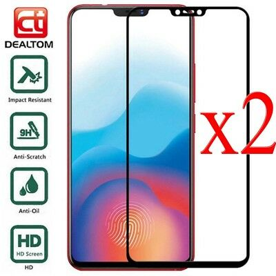 2xFor OnePlus 6T 6 5 5T 3 3T Full Cover 9H Tempered Glass Screen Protector Film