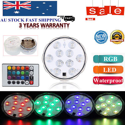 2 & 4X Submersible Light Wireless RGB IR Remote Control LED Lighting Waterproof