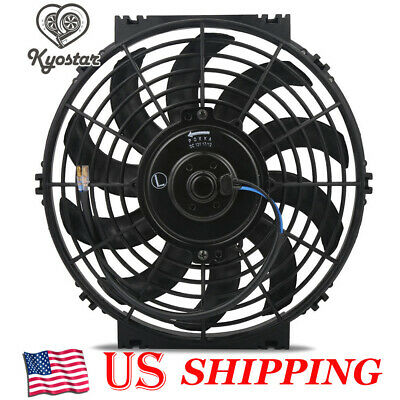 Universal 10inch Slim Fan Push Pull Electric Radiator Cooling Engine Kit 12V 80W