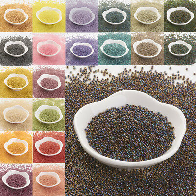 10g 11/0 Japan Import Round Glass Seed Beads  2x1.5mm Hole 0.5mm about 900pcs