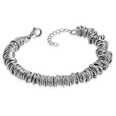 Stainless Steel Celtic Twisted Round Circle Wire Chain Ring Link Bracelet