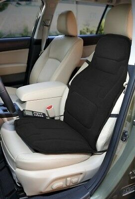 Car Seat Cover Massager Heated Vibration Chair Back Heater Plush Cushion Black