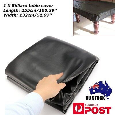 8FT Black Rubber Band Waterproof Cover for Pool Snooker Table Billiard 255cm