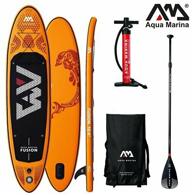 Aqua Marina Fusion 2018 Stand Up Paddle Board Inflatable Paddel Pumpe Sup Isup