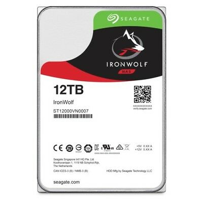 Seagate IronWolf NAS HDD ST12000VN0007 - 12TB 7200rpm 256MB 3.5zoll SATA600