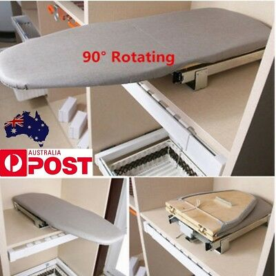 Pull Out Ironing Flatiron Plate Car Drawer Style Folding Ironing Board + Cover