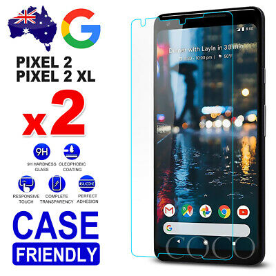 2x Pixel 2 / 2 XL 9H Premium Tempered Glass Screen Protector Film For Google