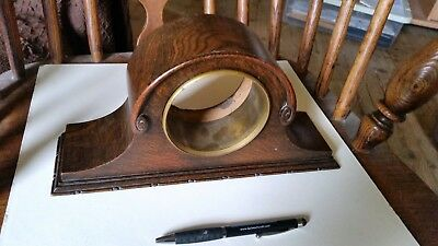 Art Nouveau Oak Mantle Clock Case.
