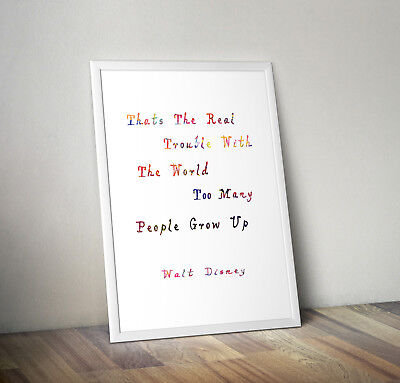 Walt Disney inspired quote poster print wall art gift decor merchandise quote