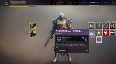 Destiny 2 The shattered throne solo for the eternal return emblem PS4/Xbox1/PC