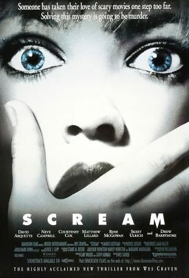 """Wes Craven SCREAM 1996 Original DS 2 Sided 27x40"""" US Movie Poster Neve Campbell"""