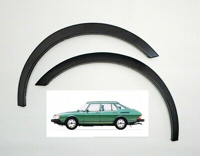 SAAB 900 new Wing Wheel Arch Trims 4 pcs '79-94 left right set BLACK MATT SaLe !