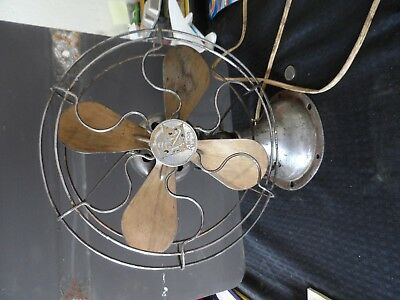 Antique Vtg R&m Robbins & Meyers Co  Fan  Brass??? Old Rare  Non Working