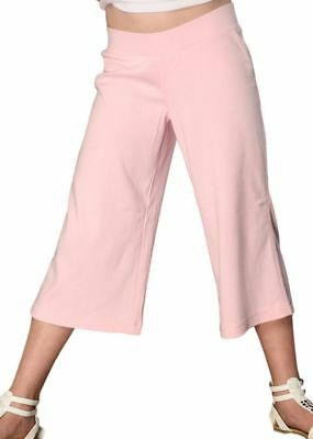 12 Girls Wholesale Gaucho Pants Brown Pink Cotton Elastic Waist Youth Child