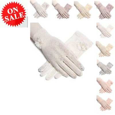 Women Lace Gloves Summer New Sun Protection Driving Anti UV Shorts Accessories