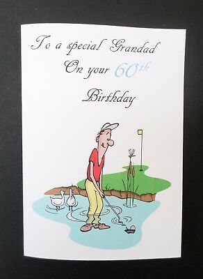 Handmade Personalised Birthday Card Grandad Dad Brother Son 40th 50th 60th 70th