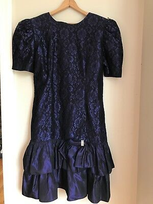 Vintage 80s Prom Bridesmaid Party Formal Dress Womens Size 16 14