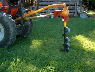 """NEW Leinbach Line L7100 tractor 3-point Post Hole Digger w/FREE auger 6 9 or 12"""""""