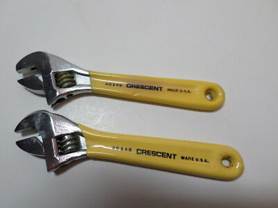 """NEW"" crescent adjustable wrenches 2 ea AC14C 4"" long never used late 70s"