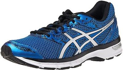 ASICS MEN S  GEL-EXCITE 4  Running Shoes BLUE SILVER BLACK WHITE Sz ... 59234f7d5429a