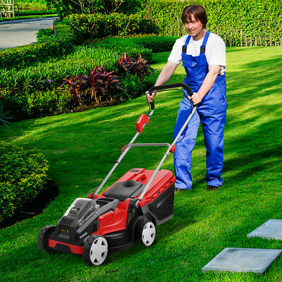 Powerful 700W Cordless Electric Lawn Mover w/ Large Grass Catcher Adjustable