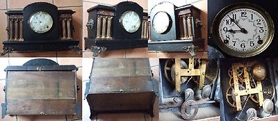 Vintage  Sessions Mantle Mantel Clock 6 Corinthian Columns  Antique  8 Day