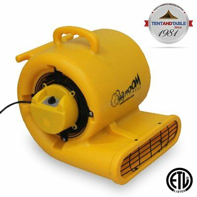 1/3 Horsepower Zoom Centrifugal Floor Dryer, Air Mover Commercial Quality Carpet