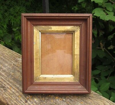 c1860 Excellent AMERICAN VICTORIAN Walnut Folk Primitive MINIATURE Antique Frame