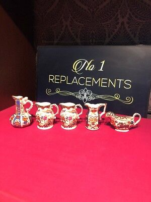 5 x Mason's Ironstone Jugs Patterns Bedford, Gothic, Victorian and Dragon