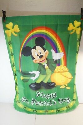 HAPPY ST. PATRICK'S DAY -Mickey Mouse & Friends Holiday Flag-Hamilton Collection