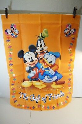 THE GIFT OF FRIENDS -- Mickey Mouse & Friends Holiday Flag - Hamilton Collection